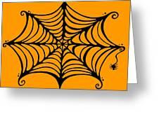 Spider's Web Greeting Card by Mandy Shupp