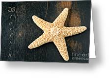Starfish Greeting Card by Darren Fisher