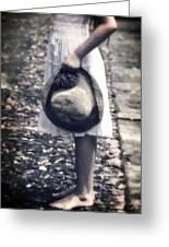 Straw Hat Greeting Card by Joana Kruse