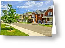 Suburban Homes Greeting Card by Elena Elisseeva