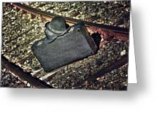 Suitcase And Hats Greeting Card by Joana Kruse