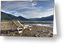 Sun Chair On Lake Maggiore Greeting Card by Joana Kruse
