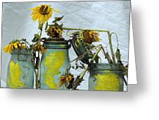 Sunflowers .helianthus Annuus Greeting Card by Bernard Jaubert