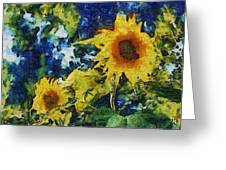 Sunflowers Greeting Card by Michelle Calkins