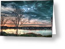 Sunset Over Canebrake Greeting Card by Brenda Bryant