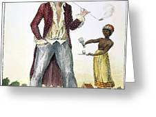 SURINAM: SLAVE OWNER, 1796 Greeting Card by Granger