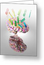 Synaesthesia, Conceptual Artwork Greeting Card by Victor Habbick Visions