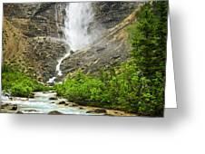 Takakkaw Falls waterfall in Yoho National Park Canada Greeting Card by Elena Elisseeva