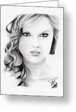 Taylor Swift 2 Greeting Card by Rosalinda Markle