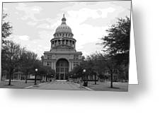 Texas Capitol Bw10 Greeting Card by Scott Kelley
