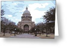 Texas Capitol Color 16 Greeting Card by Scott Kelley