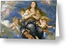 The Assumption of Mary Magdalene Greeting Card by Jose Antolinez
