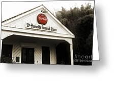 The Burnside General Store Greeting Card by Scott Pellegrin