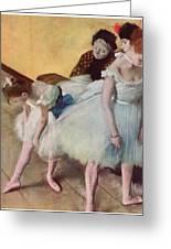 The Dancing Class Greeting Card by Edgar Degas