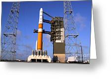 The Delta Iv Rocket That Will Launch Greeting Card by Stocktrek Images