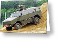The Dingo 2 Mppv Of The Belgian Army Greeting Card by Luc De Jaeger