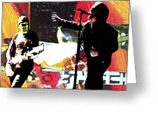 The Edge Bono Greeting Card by Kevin Newton