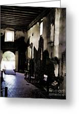 The Ghostly Nave Greeting Card by Donna Van Vlack
