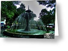 The Gore Park Fountain Greeting Card by Larry Simanzik