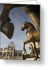 The Horses On The Basilica San Marcos Greeting Card by Jim Richardson