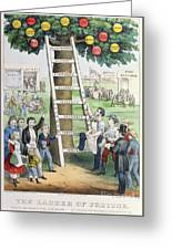 The Ladder Of Fortune Greeting Card by Currier and Ives