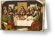 The Last Supper Greeting Card by Master of Portillo