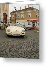 The Old Porshe Greeting Card by Odon Czintos