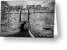 The Porta Di Limisso The Old Land Gate In The Old City Walls Famagusta Turkish Republic Cyprus Greeting Card by Joe Fox