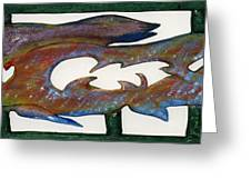 The Prozak Fish Greeting Card by Robert Margetts