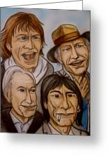 The Rolling Stones Greeting Card by Pete Maier