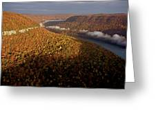 The Tennessee River Cuts Through Signal Greeting Card by Stephen Alvarez