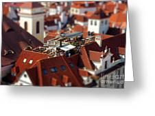 Tiny Roof Restaurant Greeting Card by Joerg Lingnau