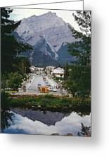 Town Of Banff Greeting Card by Shirley Sirois