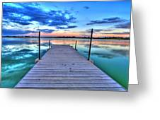 Tranquil Dock Greeting Card by Scott Mahon