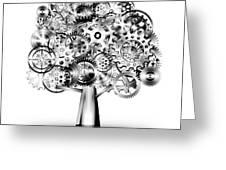 Tree Of Industrial Greeting Card by Setsiri Silapasuwanchai