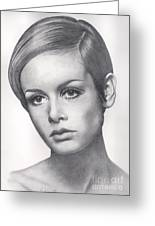 Twiggy Greeting Card by Karen  Townsend