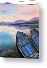 Twilight At Rest Greeting Card by Judy Via-Wolff