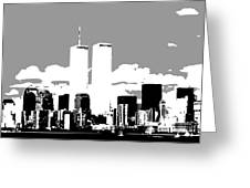 Twin Towers Bw3 Greeting Card by Scott Kelley