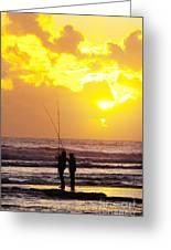 Two Fisherman Greeting Card by Carlos Caetano