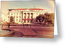 Uc Berkeley . Sproul Hall . Sproul Plaza . Occupy Uc Berkeley . 7d9994 Greeting Card by Wingsdomain Art and Photography