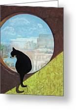 Un Gato De La Isla Mujeres - Pastel Greeting Card by Lorraine McFarland