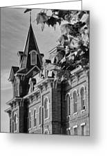 University Hall Greeting Card by Coby Cooper