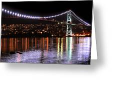 Vancouver British Columbia 5 Greeting Card by Bob Christopher