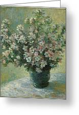 Vase Of Flowers  Greeting Card by Claude Monet