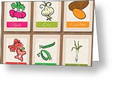 Vegetables Greeting Card by HD Connelly