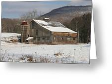 Vintage Weathered Wooden Barn Greeting Card by John Stephens