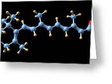 Vitamin A (retinoic Acid) Molecule Greeting Card by Dr Mark J. Winter