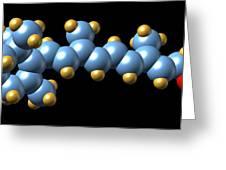 Vitamin A (retinol) Molecule Greeting Card by Dr Mark J. Winter