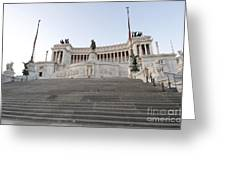 Vittoriano Monument To Victor Emmanuel II. Rome Greeting Card by Bernard Jaubert