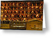 Votive Candles Greeting Card by John Greim